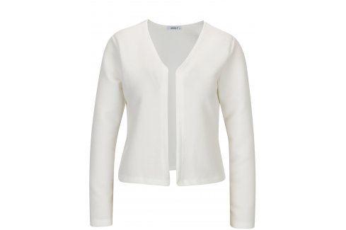 Krémový žebrovaný kardigan Haily´s Luxy Móda pro ženy