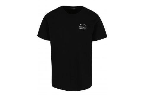 Černé pánské tričko s potiskem Makia Crane trika s krátkým rukávem