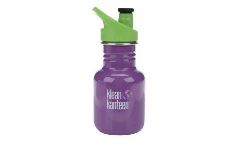 Fialová dětská nerezová lahev Klean Kanteen Kid Classic Sport 355 ml pití a jídlo s sebou
