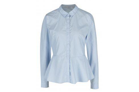 Světle modrá košile s volánem ONLY Poppi košile