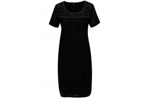 Černé krajkové šaty Yest šaty na denní nošení