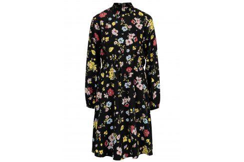 Černé květované šaty Selected Femme Florisa šaty na denní nošení