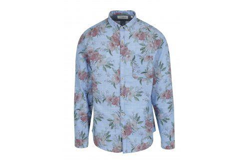 Modrá květovaná košile Lindbergh neformální