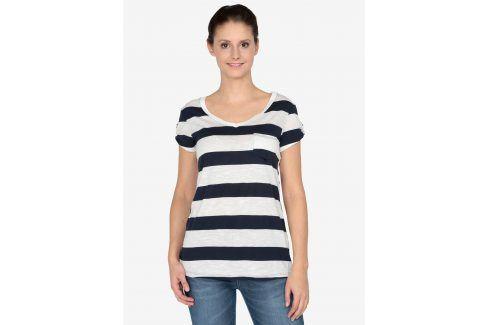 Krémovo-modré tričko s krátkým rukávem Haily´s Helen trička s krátkým rukávem