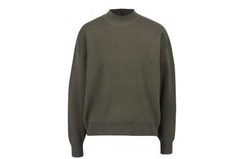 Khaki svetr se zipem na zádech Apricot Móda pro ženy