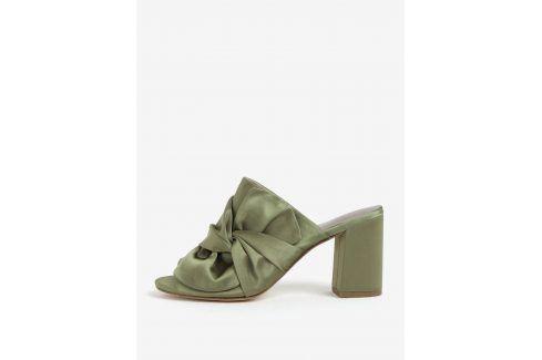 Zelené pantofle s mašlí Tamaris pantofle, žabky