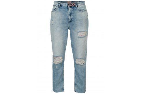 Modré džíny s potrhaným efektem ONLY Kelly Džíny, kalhoty, legíny