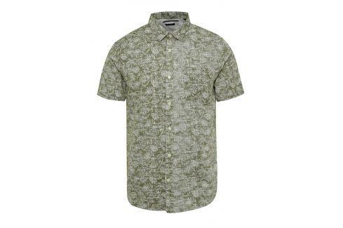 Khaki košile s tropickým vzorem ONLY & SONS Alfred neformální