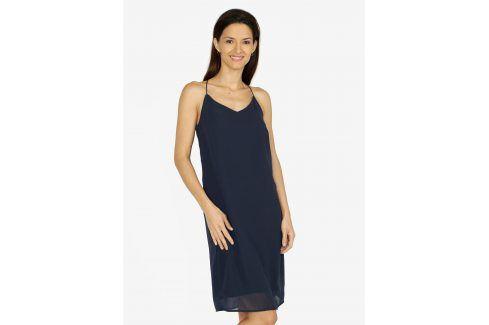 Tmavě modré šaty na ramínka VERO MODA Diana šaty na denní nošení