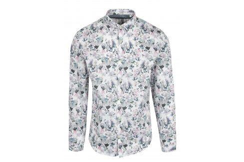 Bílá květovaná košile Lindbergh neformální