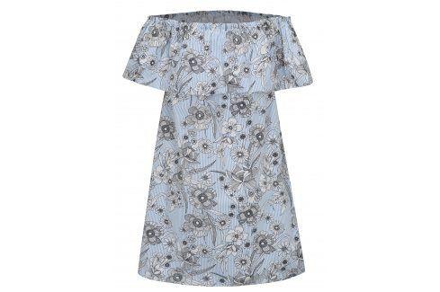 Bílo-modré květované šaty s odhalenými rameny Dorothy Perkins šaty na denní nošení
