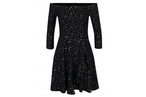 Šaty s odhalenými rameny a motivem hvězd Miss Selfridge šaty na denní nošení