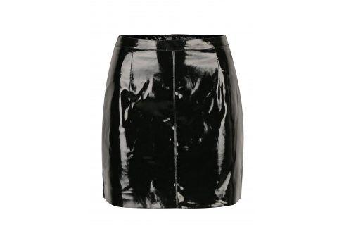 Černá lesklá sukně Miss Selfridge Krátké