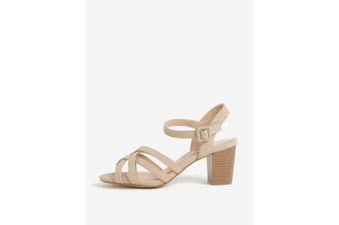 Béžové sandály na podpatku Dorothy Perkins sandály