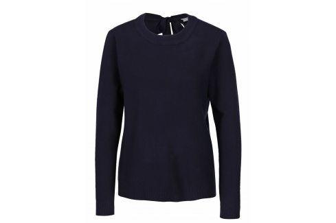 Tmavě modrý svetr s mašlí na zádech VILA Olivina Móda pro ženy