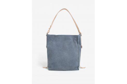 Krémovo-modrá kožená kabelka ELEGA Malý Buffy kabelky
