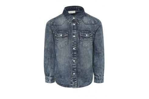 Tmavě modrá klučičí džínová košile name it Acarls Košile
