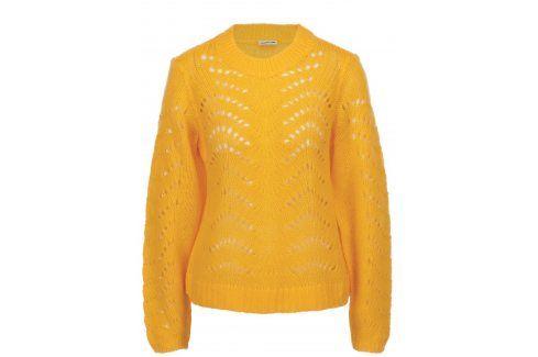 Žlutý vzorovaný svetr Noisy May Tabby Móda pro ženy