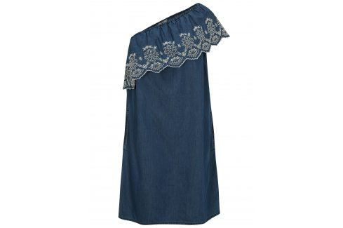 Modré šaty přes jedno rameno Dorothy Perkins šaty na denní nošení