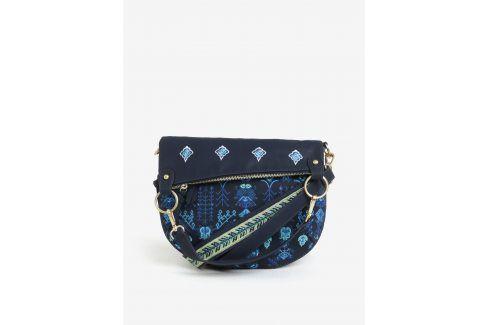 Tmavě modrá crossbody kabelka s výšivkou Desigual Thalassa Folded kabelky