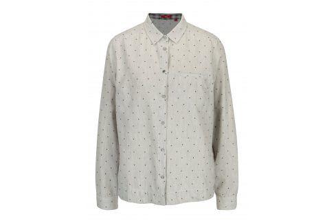 Šedá dámská puntíkovaná košile s.Oliver košile