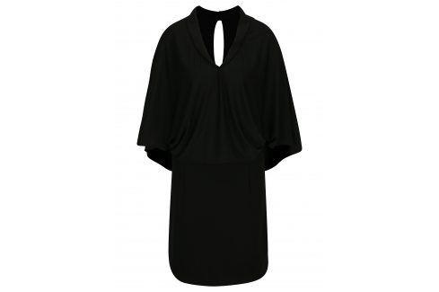 Černé šaty s volným topem s netopýřími rukávy La femme MiMi šaty na denní nošení