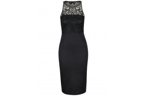Černé pouzdrové šaty s krajkovým topem AX Paris šaty na denní nošení