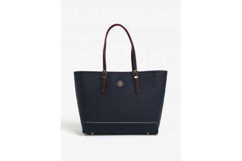 Tmavě modrá velká kabelka Tommy Hilfiger kabelky