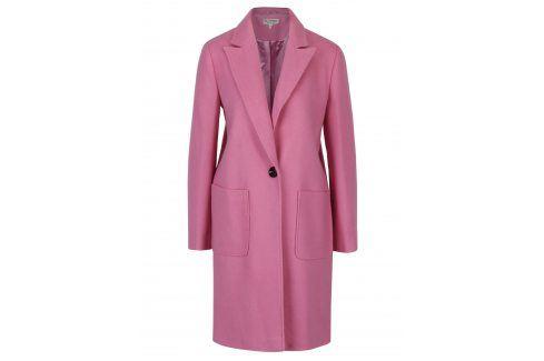 Růžový kabát s příměsí vlny Miss Selfridge Móda pro ženy