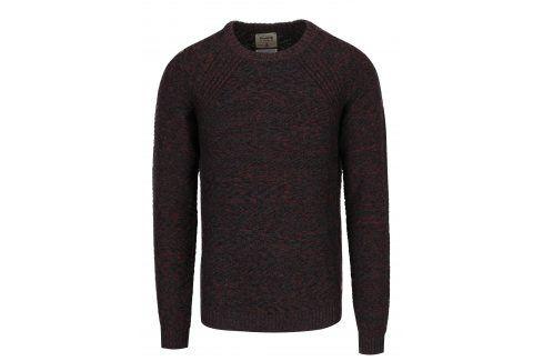 Modro-červený žíhaný svetr s příměsí lnu Jack & Jones Joey svetry