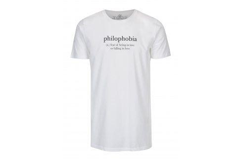 Bílé unisex tričko ZOOT Original Philophobia trika s krátkým rukávem