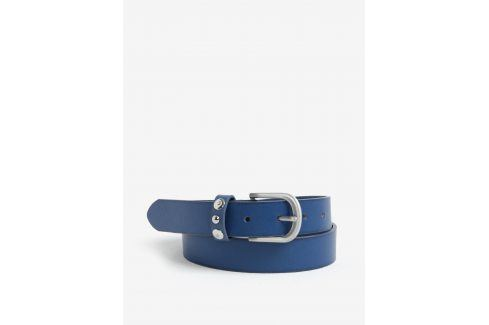 Modrý kožený pásek Pieces Imran pásky