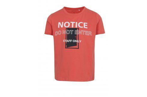 Oranžové klučičí tričko s potiskem name it Vux trička s krátkým rukávem