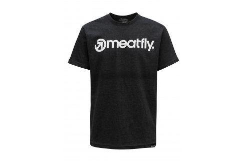 Tmavě šedé pánské tričko MEATFLY Logo trika s krátkým rukávem