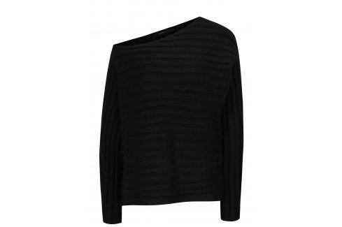 Černý žebrovaný svetr VERO MODA Clearlake Móda pro ženy