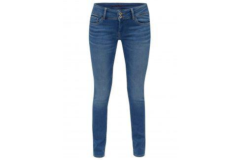 Modré dámské slim fit džíny s nízkým pasem Pepe Jeans Vera Džíny, kalhoty, legíny