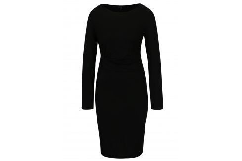 Černé šaty VERO MODA Alba šaty na denní nošení