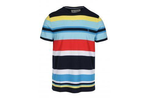 Modré pruhované tričko Original Penguin Engineered trika s krátkým rukávem