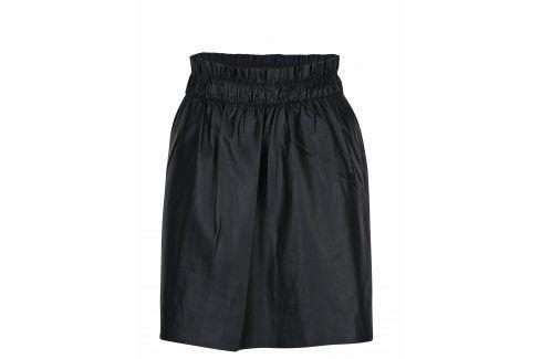 Černá koženková sukně s kapsami ONLY Tinka Krátké