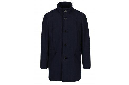 Tmavě modrý kabát s příměsí vlny Selected Homme Mosto kabáty