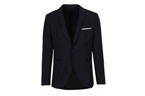 Tmavě modré oblekové sako s příměsí vlny Selected Homme Done-Tux saka