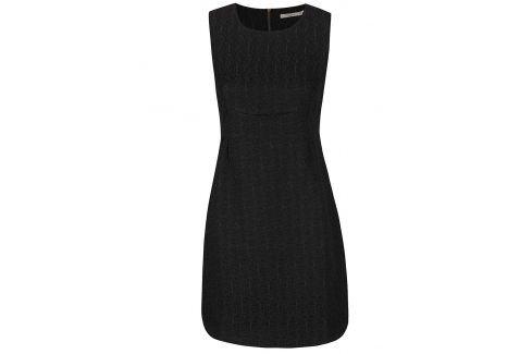 Černé strukturované šaty Darling Jaime šaty na denní nošení