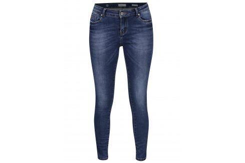 Modré skinny super stretch džíny se středně vysokým pasem Haily´s Maria Džíny, kalhoty, legíny