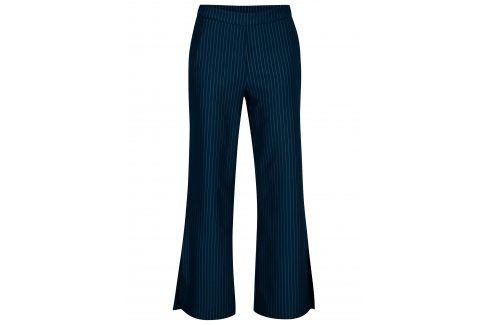Modré pruhované kalhoty s vysokým pasem VILA Falna Džíny, kalhoty, legíny