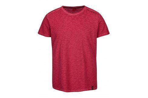 Růžové pánské žíhané tričko s.Oliver trika s krátkým rukávem
