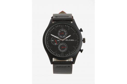 Černé hodinky s červenými detaily Blend Hodinky
