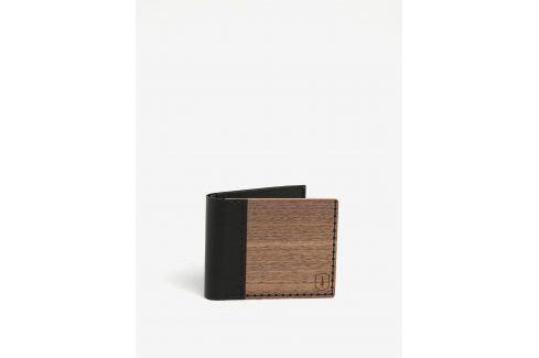 Tmavě hnědá dřevěná peněženka BeWooden Nox Virilia peněženky