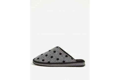 Šedé puntíkované papuče OJJU domácí obuv