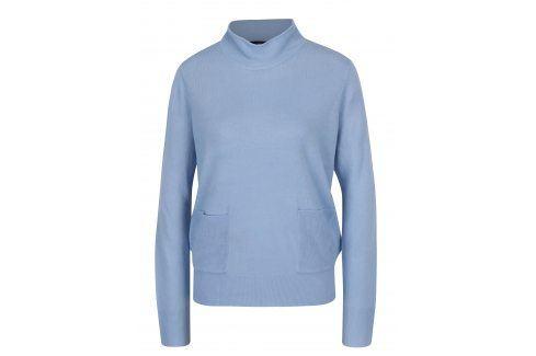 Světle modrý svetr se stojáčkem a kapsami VERO MODA Sami Móda pro ženy