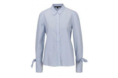 Modro-bílá pruhovaná košile se zavazováním na rukávech VERO MODA Juljane košile